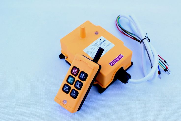 6 Saluran 1 Speed Control Hoist Crane Radio Remote Control Sistem HS-6 industri nirkabel