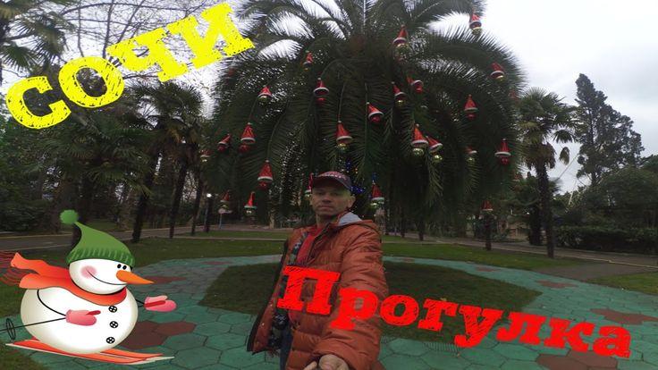 Новогодняя пальма. Сочи перед Новым Годом. Новый год близится