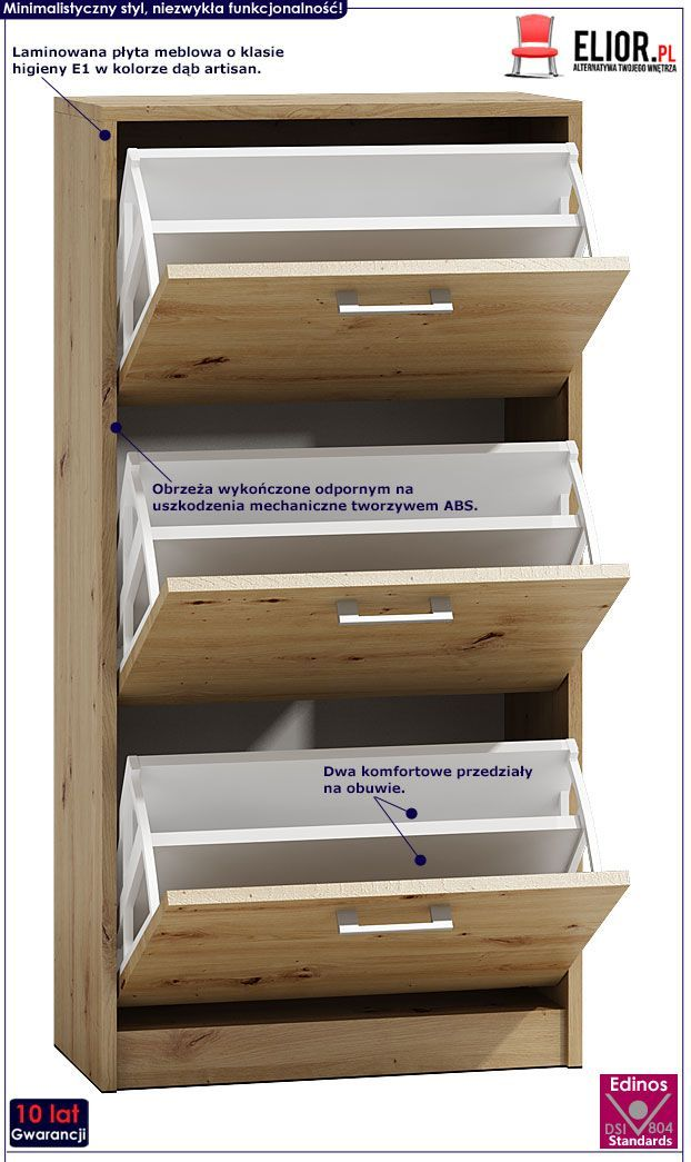 Szafka Na Buty Do Przedpokoju Dab Artisan Lordi Sklep Edinos Pl Decor Home Decor Bookcase