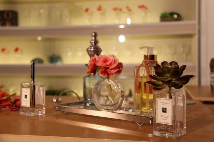 Reciclando vidros de perfumes