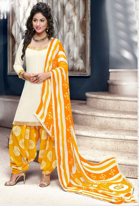 Yellow Cotton Suit - Desi Royale