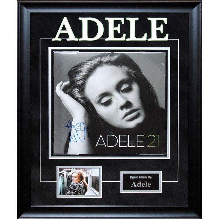 Luxe Adele '21' Artist Signed Framed Album Cover