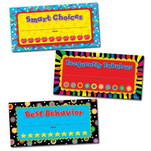 Motiva y recompensa el buen comportamiento de los estudiantes, el trabajo duro y sus logros, con estos incentivos coloridos y gratificantes....