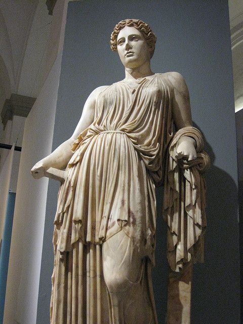 Demeter, Herculaneum. This marble statue was found on 21 April 1997 near a monumental structure of ancient Herculaneum, located to the southwest of the Villa of the Papyri.