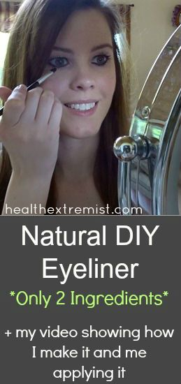 Natural DIY Eyeliner - Only 2 Ingredients!