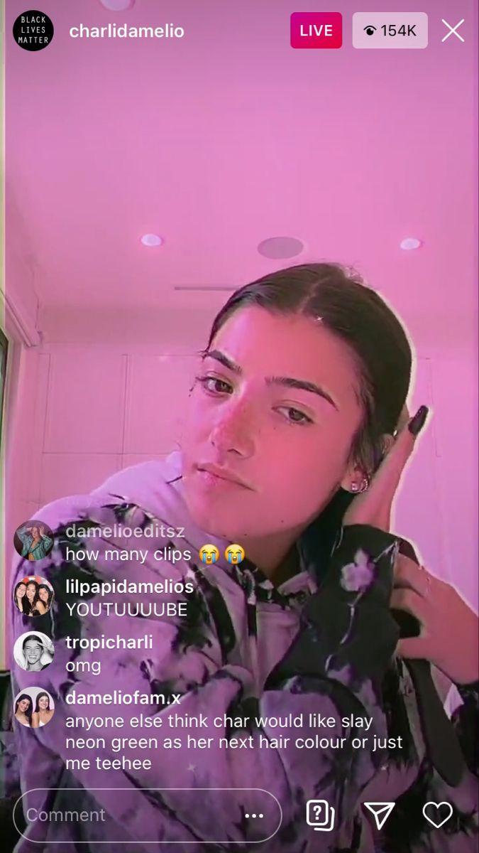 Charli Damelio Instagram Live Screenshot Rare Instagram Live Black Lives Instagram