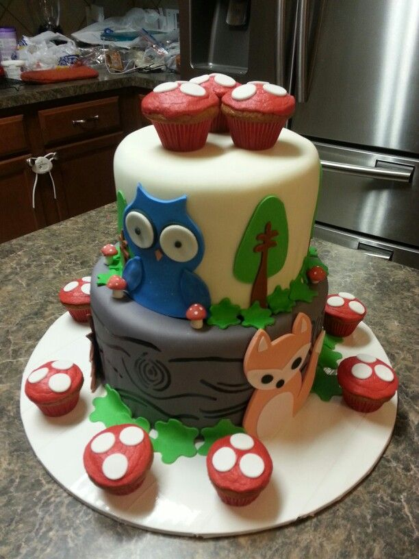 woodlands creatures baby shower cake baby shower for sweet lincoln