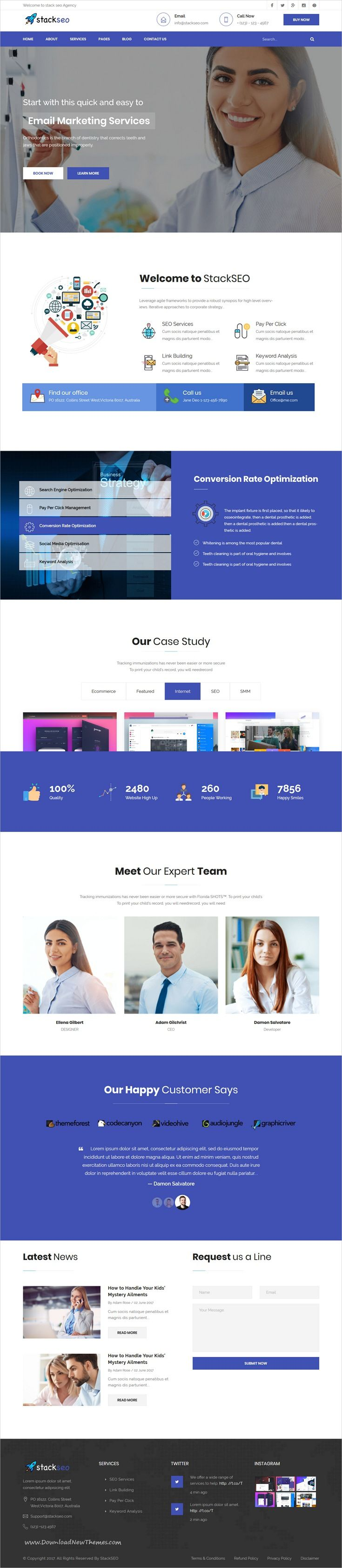 StackSEO – Internet Marketing and SEO Responsive Template