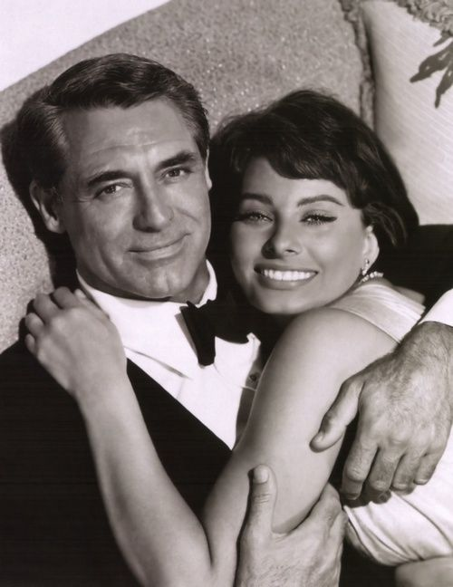 Cary Grant and Sophia Loren in 'Houseboat', 1958.
