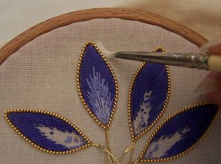 stumpwork, embroidery - tutorial