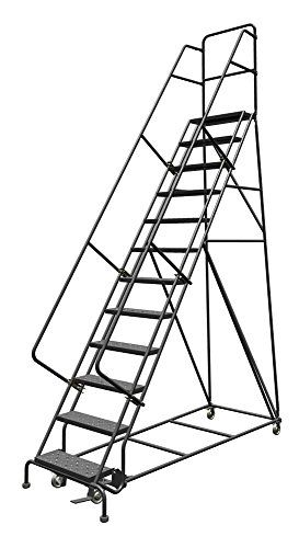 Louisville Ladder Gsw2412 Rolling Warehouse Ladder With 24 Inch Step