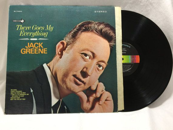 Jack Greene There Goes My Everything Vintage Vinyl Record Album 33 rpm lp 1967 DECCA Records DL 74845 by NostalgiaRocks