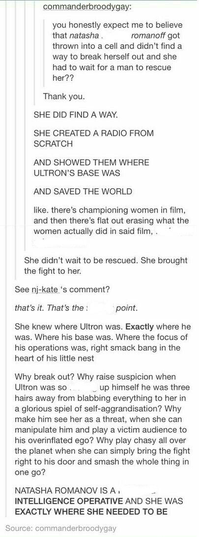 This actually reminds me of Avengers I, because Loki did the same thing. Only Natasha did it so much better, Ultron didn't even suspect a thing.