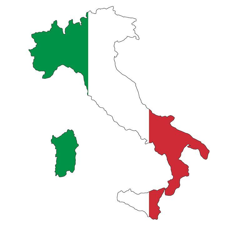 Italien, Sardinien, Karte, Flagge, Land, Landkarte