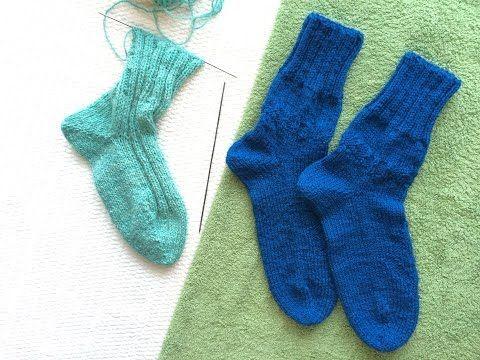 Вязание носки от мыска на двух спицах без шва / Knitting socks on two needles without seam - YouTube