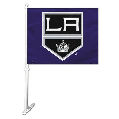 Fremont Die NHL Car Flag and Wall Bracket Set NHL Team: Los Angeles Kings