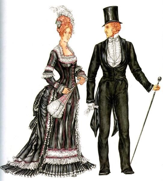 Английские костюмы конца 19 века