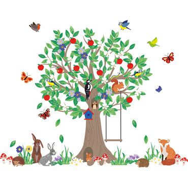 Woodland Tree Wall Stickers, Room Decorations and Pictures, Nursery