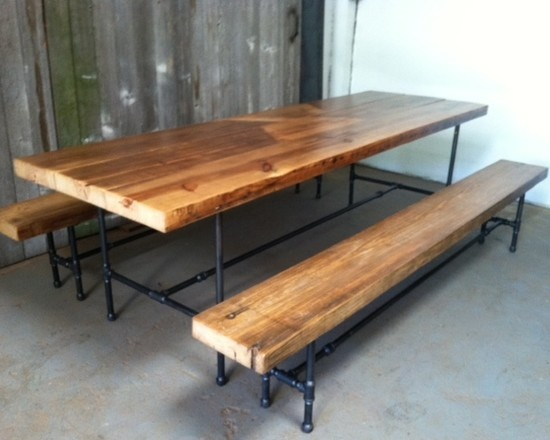 Reclaimed Wood Pipe Industrial Dining Table Studio Table