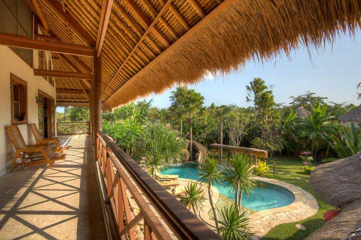 #pool view from the first floor. Enjoy the #beautiful #tropical #garden.