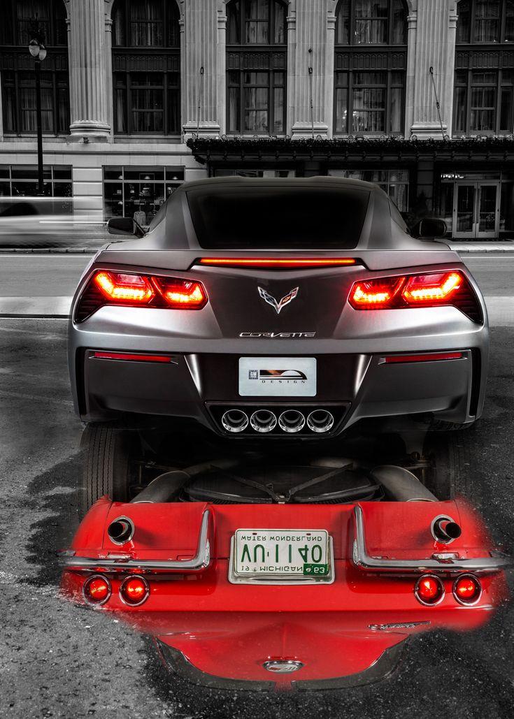 Stingray Reflection - Chevy Stingray Vette #cars
