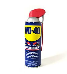 so many things WD-40 can do...1. remove ink from your jeans 2. remove glue from your carpet 3. prevent your sewing needles from rusting 4. removes play-doh from your hair (ha) 5. removes that pesky adhesive price tags from shoe bottoms