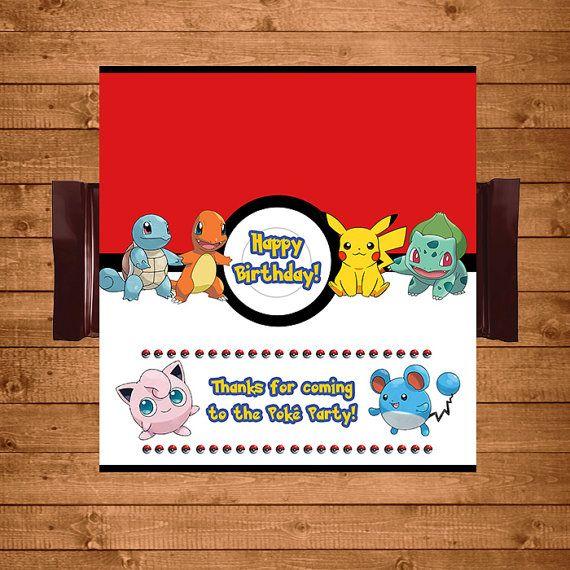 Pokemon Candy Wrapper Red & White  Pokemon by NineLivesNotEnough