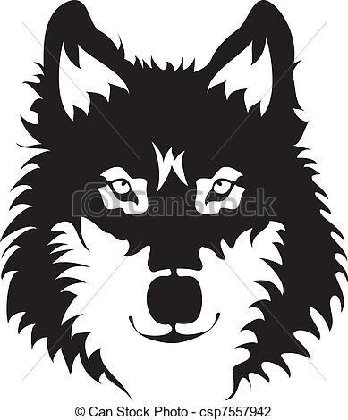 wolf, gezicht - csp7557942