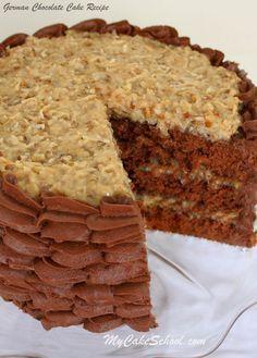 Scratch German Chocolate Cake Recipe by MyCakeSchool.com. YUM! – Chocolate Cake … – Beste Chocolate Ideen