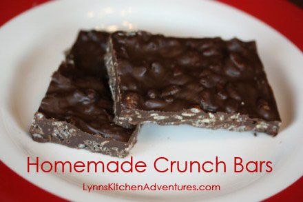 Homemade Crunch Bars- Only 2 ingredients, but so delicious!
