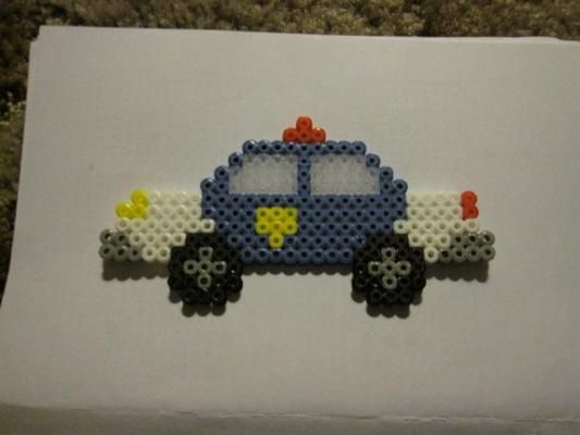 14 Best Perler Bead Cars Police And More Images On