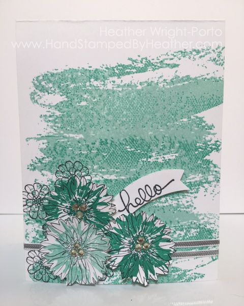 Hand Stamped By Heather Wright-Porto: Kissing Technique: Stampin' Up! Touches of Texture