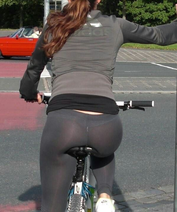 See through yoga pants on bike