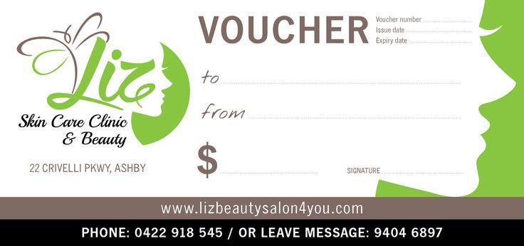 Liz Skin Care Clinic & Beauty Gift Voucher (Front)