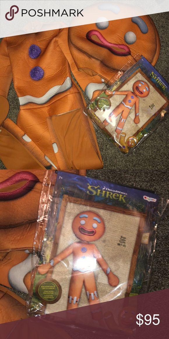 NEW SHREK GINGY GINGERBREAD MAN COSTUME KIDS 7/8
