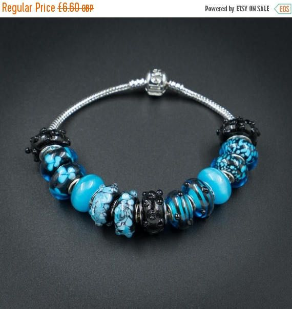 ON SALE black turquoise european style by CretanHareCreations