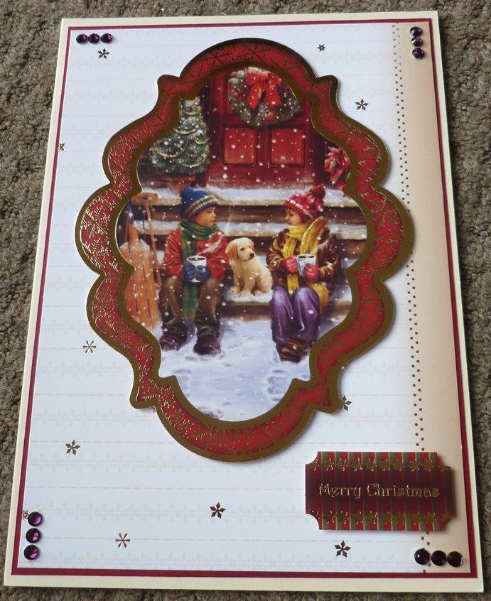 Handmade Card Hunkydory Christmas - using up last years stash - vintage