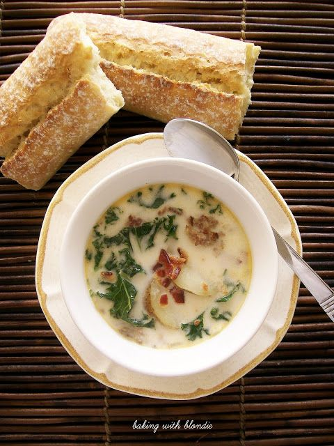 Zuppa Toscana. This soup is fantastic, and add a loaf do French bread for the perfect light dinner!
