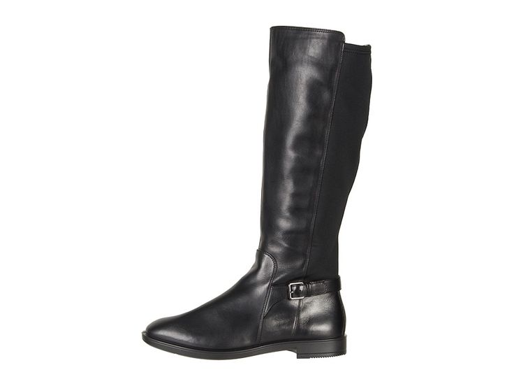 ECCO Shape M 15 Tall Boot Women's Boots Black/Black Cow Leather/Textile
