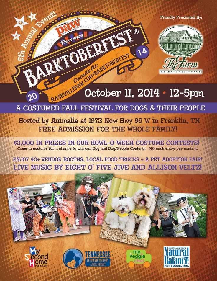 Nashville Paw's Barktoberfest October 22, 2014 Free