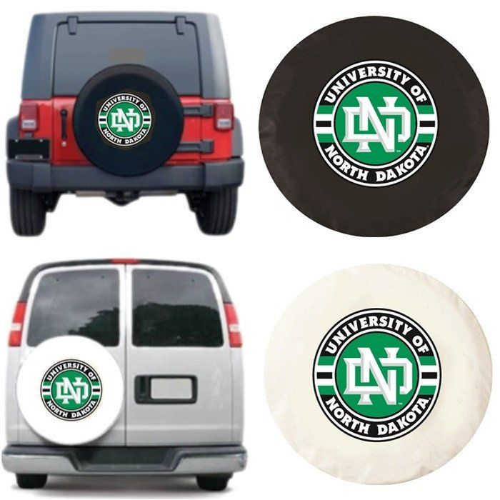 North Dakota Fighting Hawks Tire Cover will look great covering your spare tire. Exact fit. Excellent quality. Free shipping. Officially Licensed by the NCAA. Visit sportsfansplus.com for details.