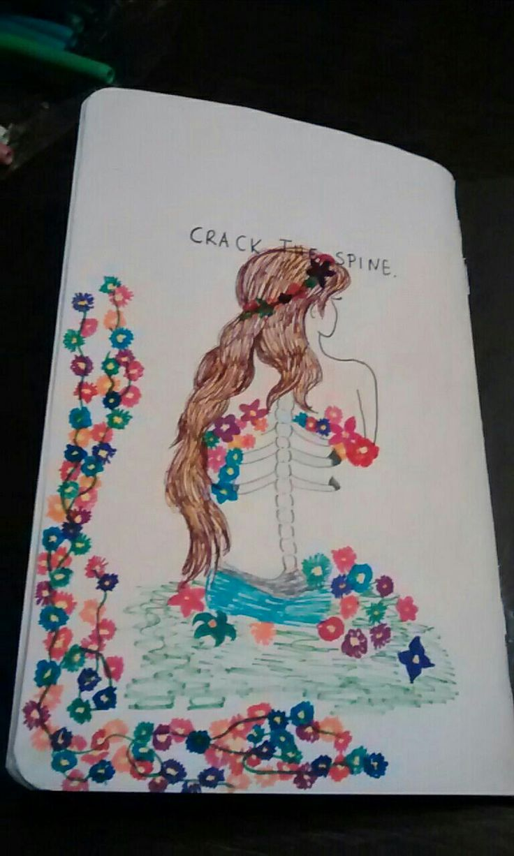 I have started my wreck this journal....this is my crack the spine page! What do you think?☺