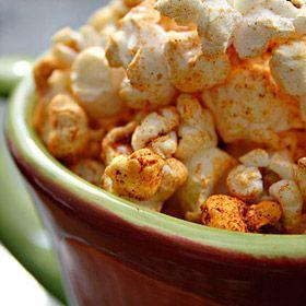Spicy Southwestern Popcorn. A Cuppa Cuppa Burnin' Love.