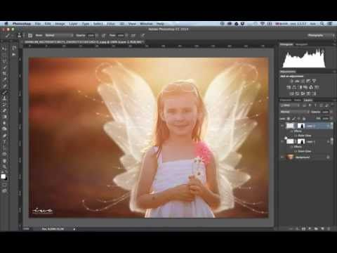 How To Overlay Fairy Wings In Photoshop