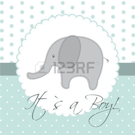 bambino carta di doccia con elefante cute  Archivio Fotografico