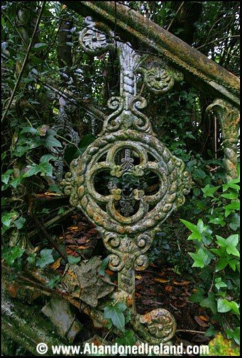 From an abandoned mansion in Ireland ~ Celtic Cross design