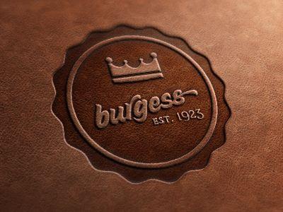 BurgessLogo Stamps, Logo Design, Leather Stamps, Leather Logo, Leather Craft Logo, Burgers Brand Stamps, Graphisme Design, Design Logos, Leather Good