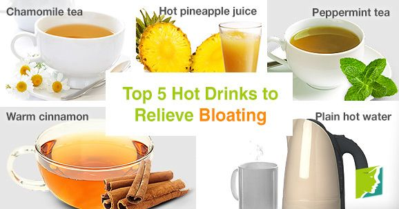 Top 5 Hot Drinks to Relieve Bloating | 34-menopause-symptoms.com