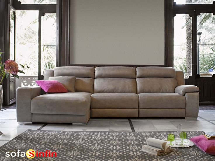 Sofá Relax De 3 Y 2 Plazas Con Chaise Longue Modelo Blus Fabricado Por  Acomodel