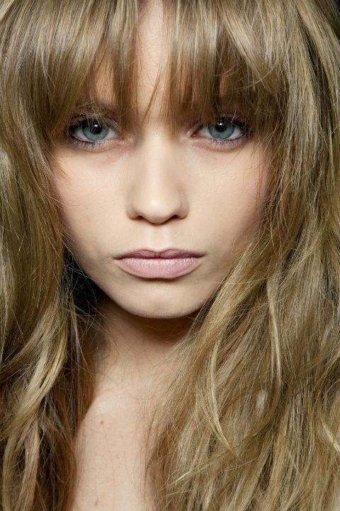 bangs: Hair Styles, Makeup, Bangs Color, Color And Bangs, Beauty, Abbeys Hair, Hair Color, Abbey Lee Kershaw, High Hairstyles